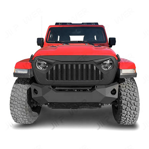 Image 2 - Car Styling Racing Grill For Jeep Wrangler JL 2018 2020 Front Mesh Race Mask Grills Modified Accessories