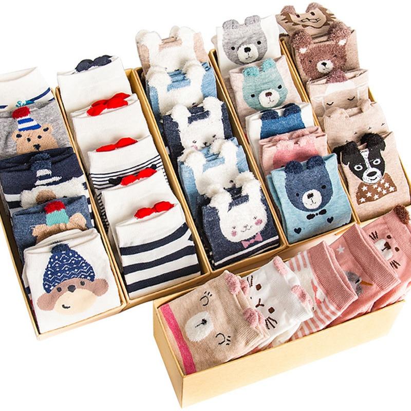 5 Pairs/Set Women's Cotton Happy Cute Cat Short Socks Print Cartoon Animal Casual Summer Socks Red Heart Funny Men's Ankle Socks