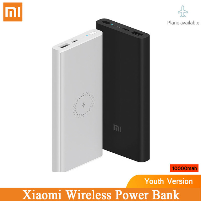Original Xiaomi Wireless Power Bank Powerbank 10000mAh Portable Charger USB C Batterie Externe Bateria Externa Mi Power Bank