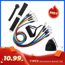 11Pcs/Set Latex Resistance Band set elastic bands for fitness rubber bands fitness equipment for home gym sport bands workout oushi multifunctional resistance bands 11pcs set