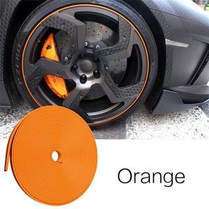 Image 4 - Car Accessories Universal 8M Car Sticker Decal Rim Rubber Strip Protection Color Car Tire Decorative Protector Car Styling TSLM2