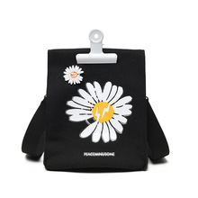 Net red daisy canvas bag female bag new comic style soft sister cloth bag Harajuku style shoulder messenger bag blood kitchen knife style canvas zipper messenger bag white red