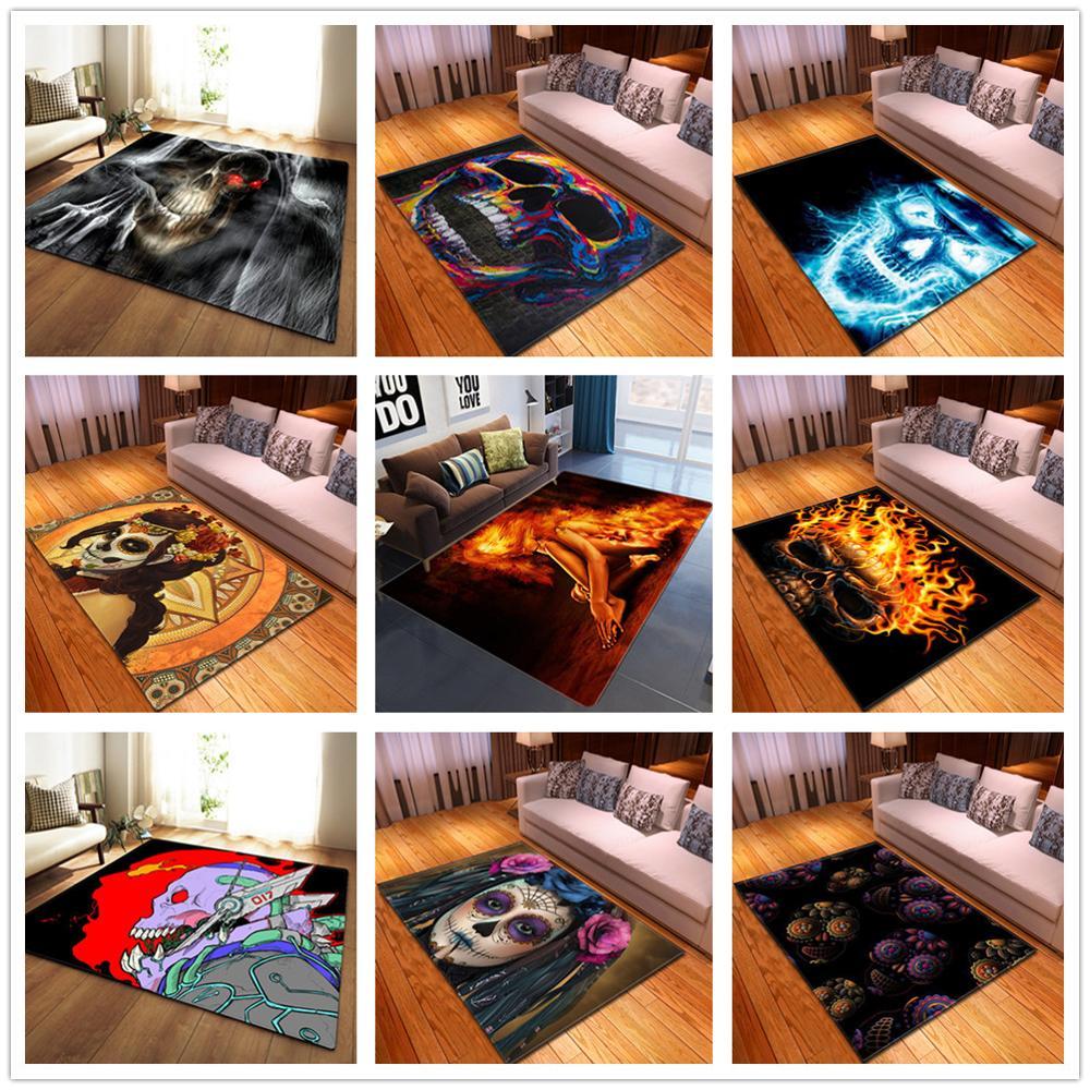 New Skull Series Printed 3D Carpets For Living Room Area Rugs Home Decor Tapetes Parlor Tea Table Floor Mat Hallway Aisle Carpet
