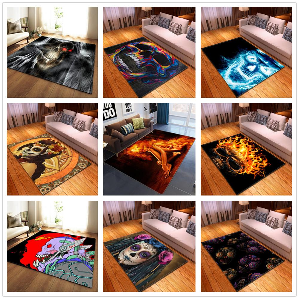 New Skull Series Printed <font><b>3D</b></font> Carpets for Living room Area Rugs Home Decor <font><b>tapetes</b></font> Parlor Tea table Floor Mat Hallway Aisle Carpet image