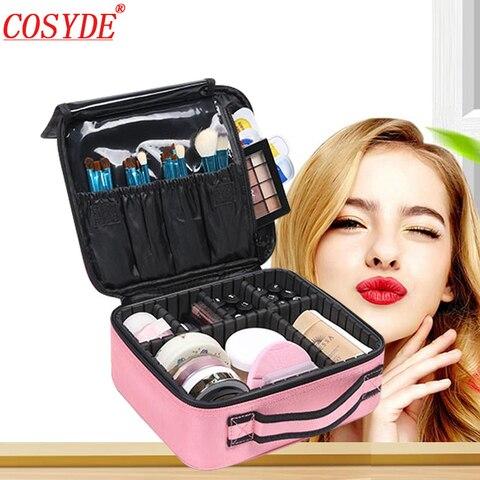 Bolsa de Higiene Organizador de Viagem Malas para Maquiagem Cosyde Profissional Pessoal Bolsa Cosmético Feminino Compõem Cases Grande Capacidade Cosméticos