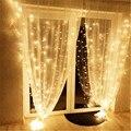 Занавеска 3*2,5 м 240LED струнный светильник сказочная сосулька наружная гирлянда светодиодный светильник для окна свадьба дом рождество украш...