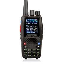 Quad band handheld rádio bidirecional KT-8R 4 banda walkie talkie intercomunicador ao ar livre uhf vhf ham transceptor