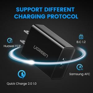 "Image 4 - Ugreen מהיר תשלום 3.0 QC 18W ארה""ב בריטניה USB מטען QC3.0 מהיר מטען עבור סמסונג s10 Xiaomi iPhone Huawei טלפון נייד מטען"