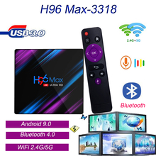 H96 Max-3318 Android 9.0 Smart TV Set Top Box DC 5V/2A High