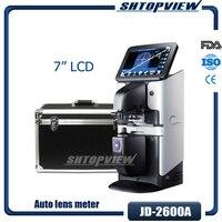 Vender JD 2600A Digital Auto lente medidor Lensmeter lensómetro Focimeter 7 pantalla táctil colorida PD UV impresora