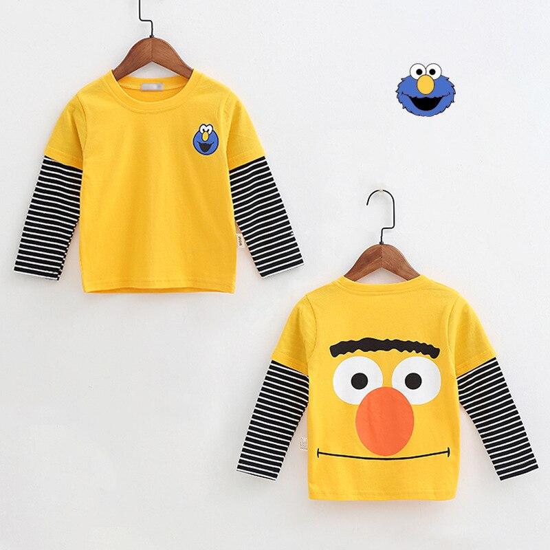 New Spring Boys Girls Cartoon Cotton T Shirts Children Tees Boy Girl Long Sleeve T Shirts Kids Tops Brand Baby Clothes 12M-8Y 49