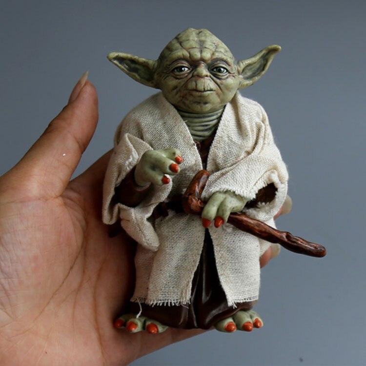 Star Wars Yoda Darth Vader Action Figure Doll Toys The Force Awakens Jedi Master Yoda Baby Anime Figures Lightsaber