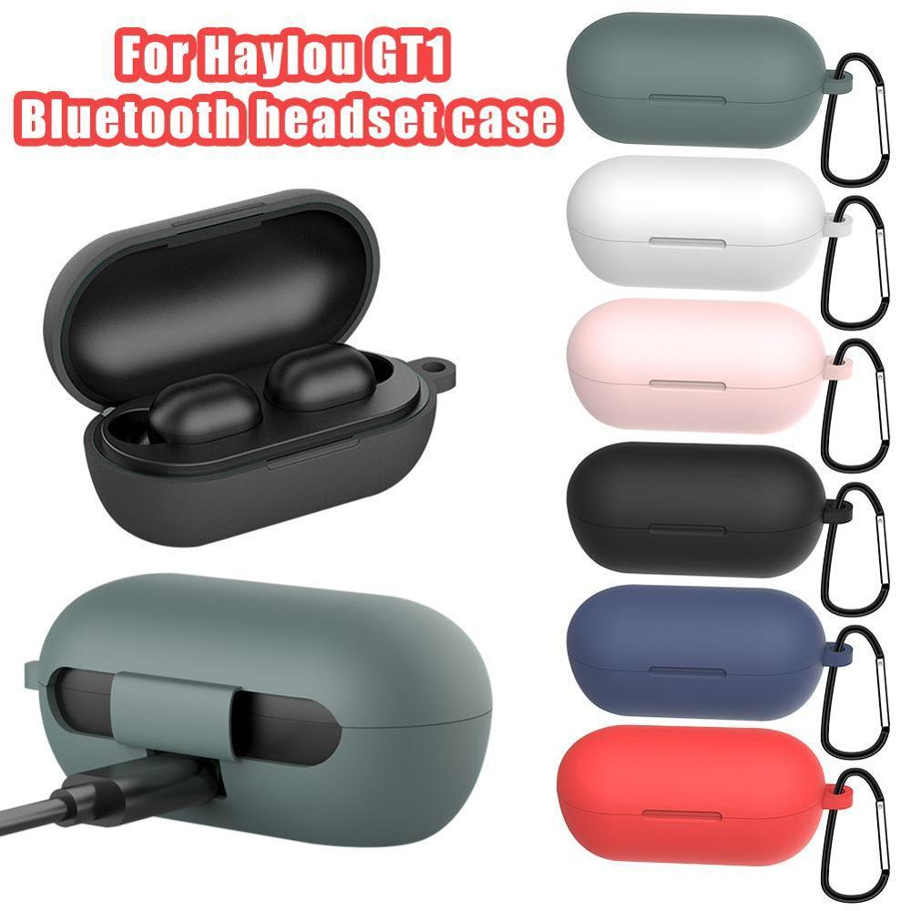 Silicone Case For Haylou GT1 GT1 Plus Earphone Headset Protective Cover With Anti-lost Buckle For Haylou GT1 Bluetooth Headset