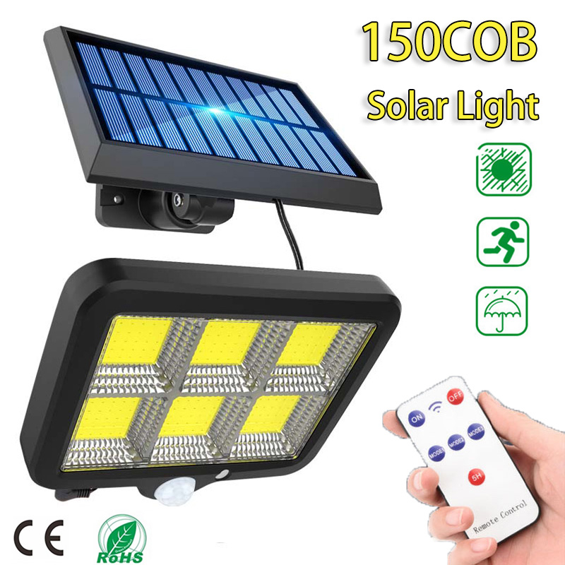 150 LED Solar Light Outdoor Motion Sensor Waterproof Garden LED Solar Lamp Spotlights For Garden Path Street Led Wall Light