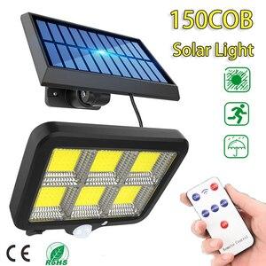 150 LED Solar Light Outdoor Motion Sensor Waterproof Garden LED Solar Lamp Spotlights For Garden Path Street Led Wall Light
