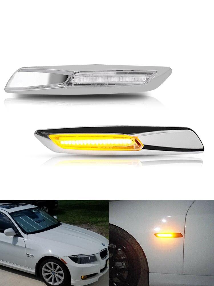 iJDM Amber 12V LED Side Marker Light For BMW 1 3 5 Series F30/E90/E91/E92/E93/E46 E60/E61