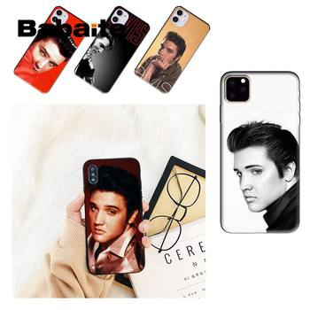 Babaite Elvis Presleys Black Cell Phone Case For iPhone 8 7 6 6S Plus X XS MAX 5 5S SE XR 11 11pro promax 12 12Pro Promax image