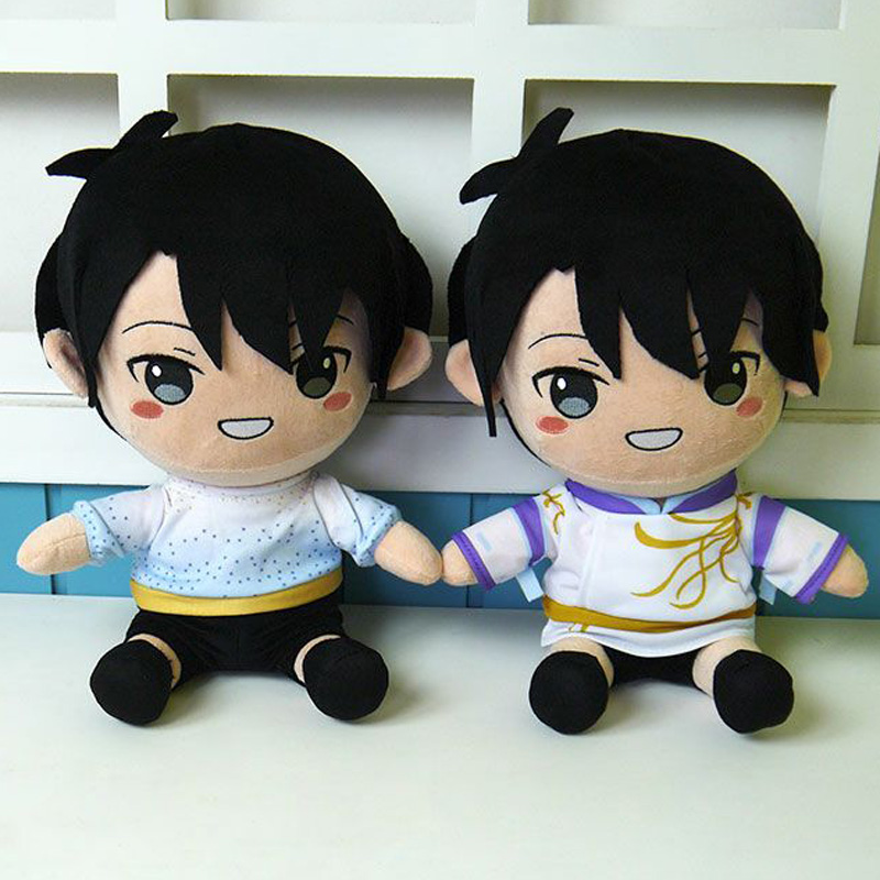 35 Cm Yuzuru Hanyu Figures Plush Toy Cartoon Figure Skating Boy Doll Soft Pillow Cosplay Change Clothes Plush Doll Toys