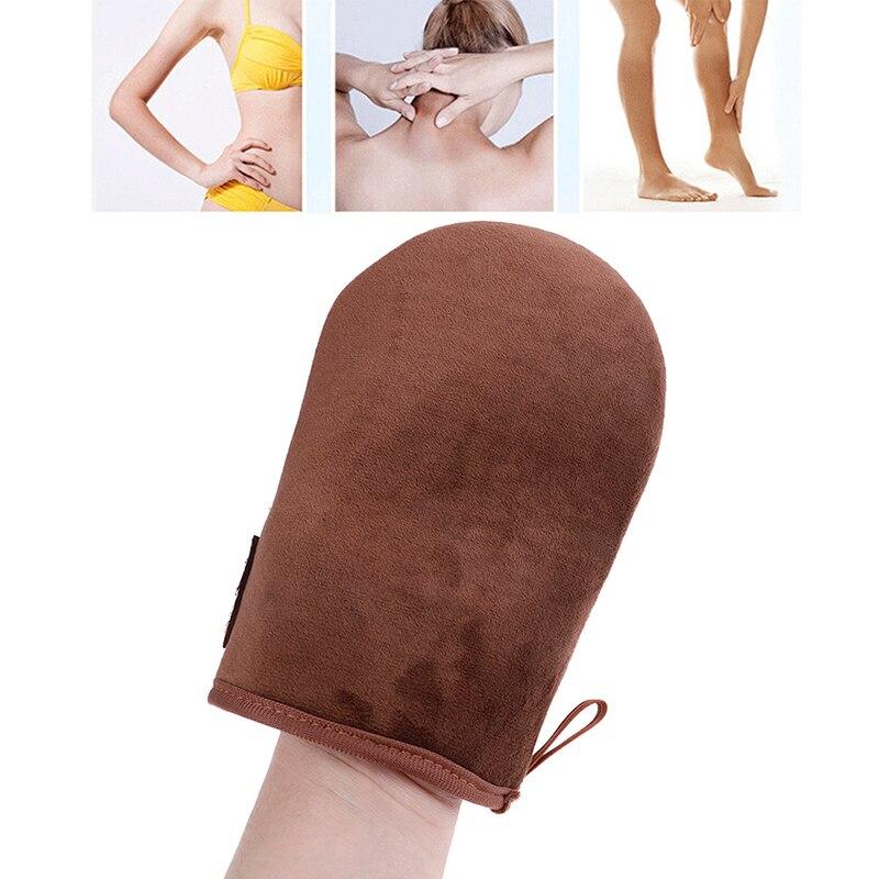 Высокое качество коричневый многоразовые тела самостоятельно поддельные загар аппликатор перчатки для загара крем лосьон мусс перчатки а...