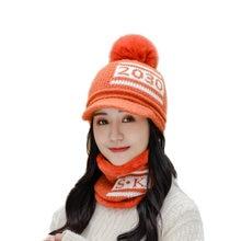 Зимнее кольцо для шляпы шарф Набор женщин шапочки шапки девочек