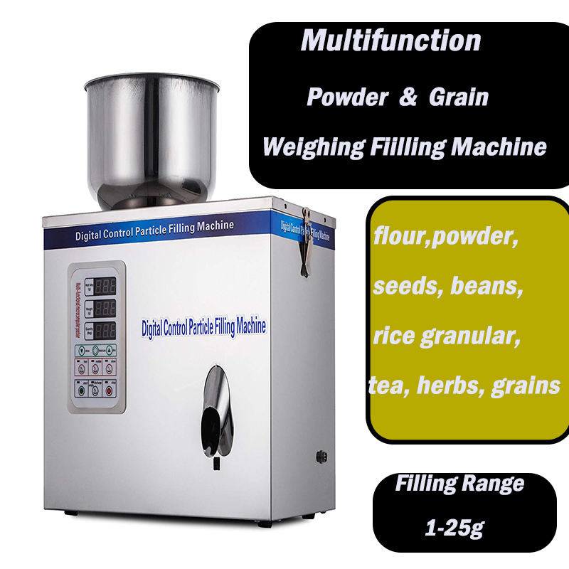 1-25g Automatic Scale Herb Filling And Weighing Machine Tea Leaf Powder Grain,medicine,seed,salt Rice Packing Machine Powder