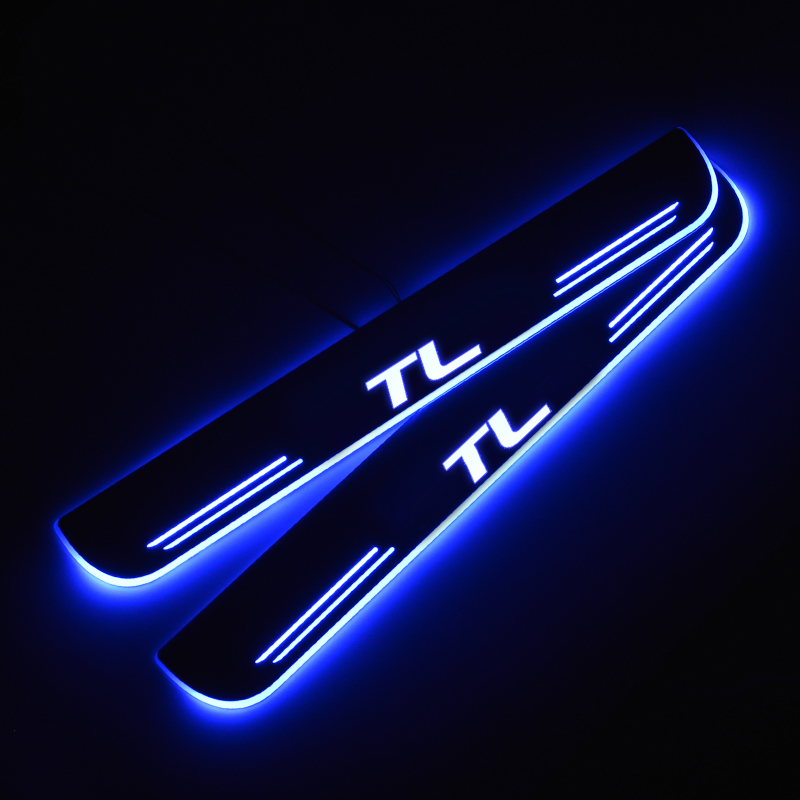 LED Door Sill For Acura TL UA8 UA9 2009 TL UC 2003 - 2012 Door Scuff Plate Pedal Threshold Welcome Light Car Accessories