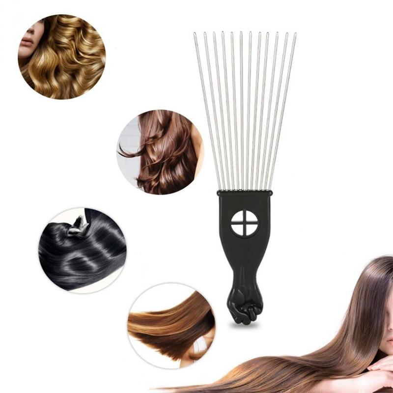 Профессиональная металлическая расческа в африканском стиле для использования в салонах, расческа для вставной волос, расческа с широкими ...