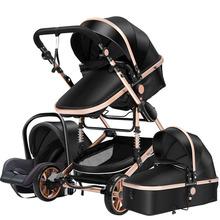 Wózek dziecięcy 3 w 1 wózek wysokiego krajobrazu wózek spacerowy dla noworodka wózek dla dziecka wózek spacerowy dla dziecka w wieku 0-36 miesięcy tanie tanio Magic ZC CN (pochodzenie) 0-3 M 4-6 M 7-9 M 10-12 M 13-18 M 19-24 M 2-3Y 4-6Y EN1888 70 kg 3 in 1 baby stroller 0-3 years