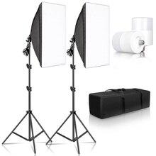 Студийный набор фото софтбокс светильник коробка светильник ing одной светодиодной лампе с Штатив для фотографии съемки софтбокс вспышка E27 ...