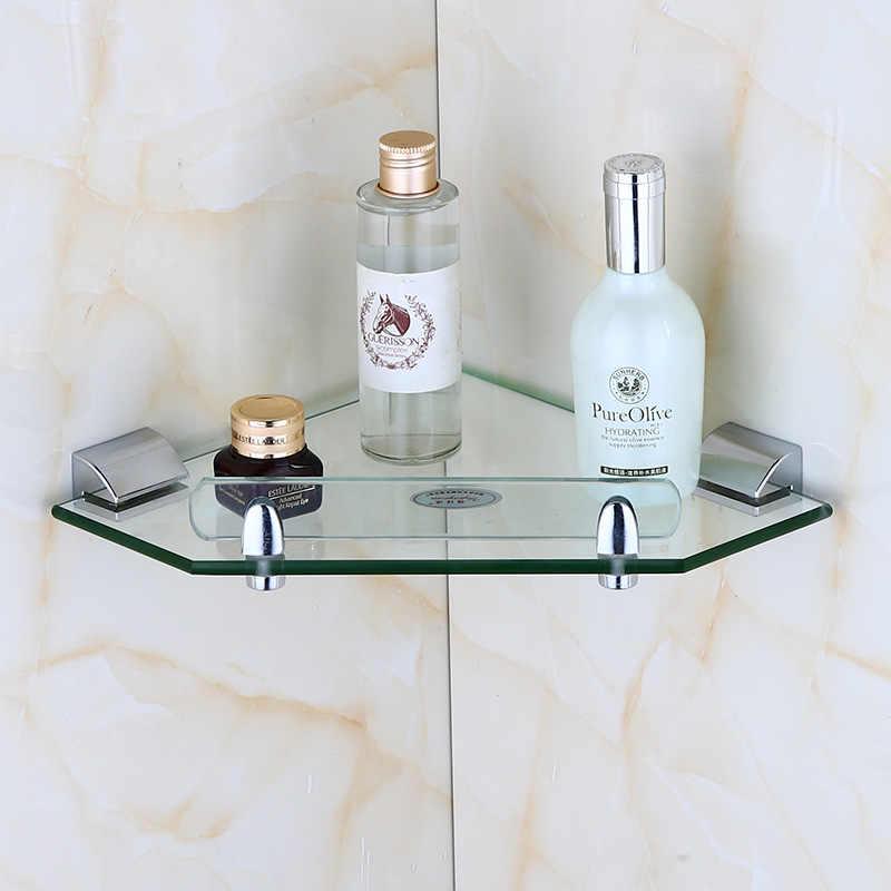 European Style Bathroom Shelf Glass Wall Shelf Stainless Steel Bathroom Tripod Bathroom Corner Shelf Lo5191034 Bathroom Shelves Aliexpress