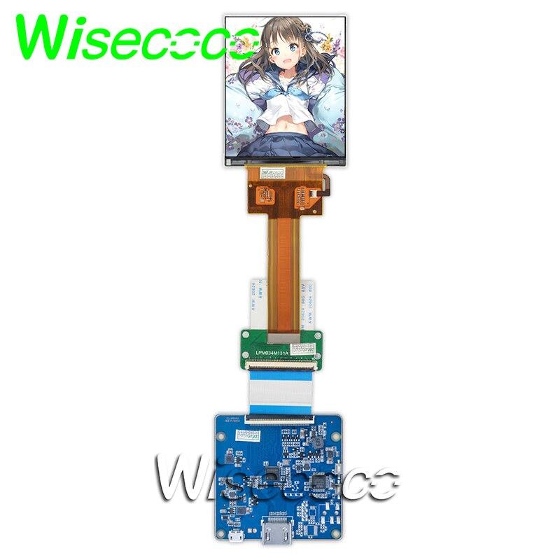 Wisecoco 3,4 дюймов 1440x1700 ЖК-Экран Дисплей HDMI MIPI плата контроллера для Raspberry pi 3 3b +