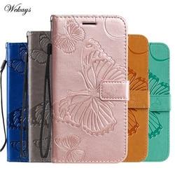 На Алиэкспресс купить чехол для смартфона butterfly leather funda case for samsung galaxy a01 a21 a41 a70e a81 a91 m11 m31 m60s m80s note 10 s10 lite shell covers cases