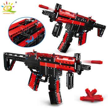 HUIQIBAO 676Pcs DIY Submachine Gun HK MP5 Building Blocks Military Technic Gun Weapon Educational Assembly Bricks Toys Children - DISCOUNT ITEM  57 OFF Toys & Hobbies