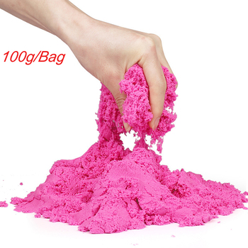 100g Magic Sand Toy Dynamic Clay Educational Colored Soft Slime Space Sand Supplies Play Sand Antistress Kids Toys for Children