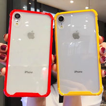 Transparent Candy Color Case For iPhone