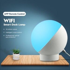 Image 2 - Tuya Smart WiFi lampa stołowa sterowanie bezprzewodowe kolorowe ściemnianie biurko lampka nocna sterowanie głosem za pośrednictwem Alexa Google Home Smart Home