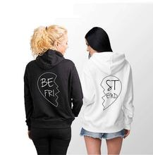 Matching Best Friend Sweatshirt Casual Tops Sleeve Tumblr Gilrs Harajuku Gothic Aesthetic Clothes Skuggnas Hoodies