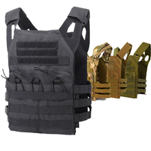 JPC Tactical Vest Men Hunting Vest Plate Carrier Molle Vest Military Gear Airsoft Paintball Game Body Armor 10 Colors