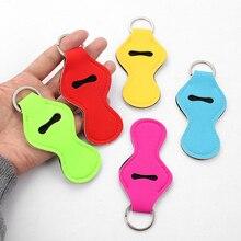 Keychain Lipsticks Lip-Balm Keyrings Jewelry Gift Colorized Trendy Pouch Sbr-Fabric