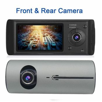 HD 720P Vehicle Car Dashboard DVR Camera Dual Lens Wide Angle Video Recorder Dash Camera Cam G-Sensor Driving Recorder
