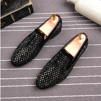 2019 Full Shining Driving Lazy shoes Mens Formal Dress Shoes Soft Sole Slip on Loafers Big Size Party Casual Shoes A52 82