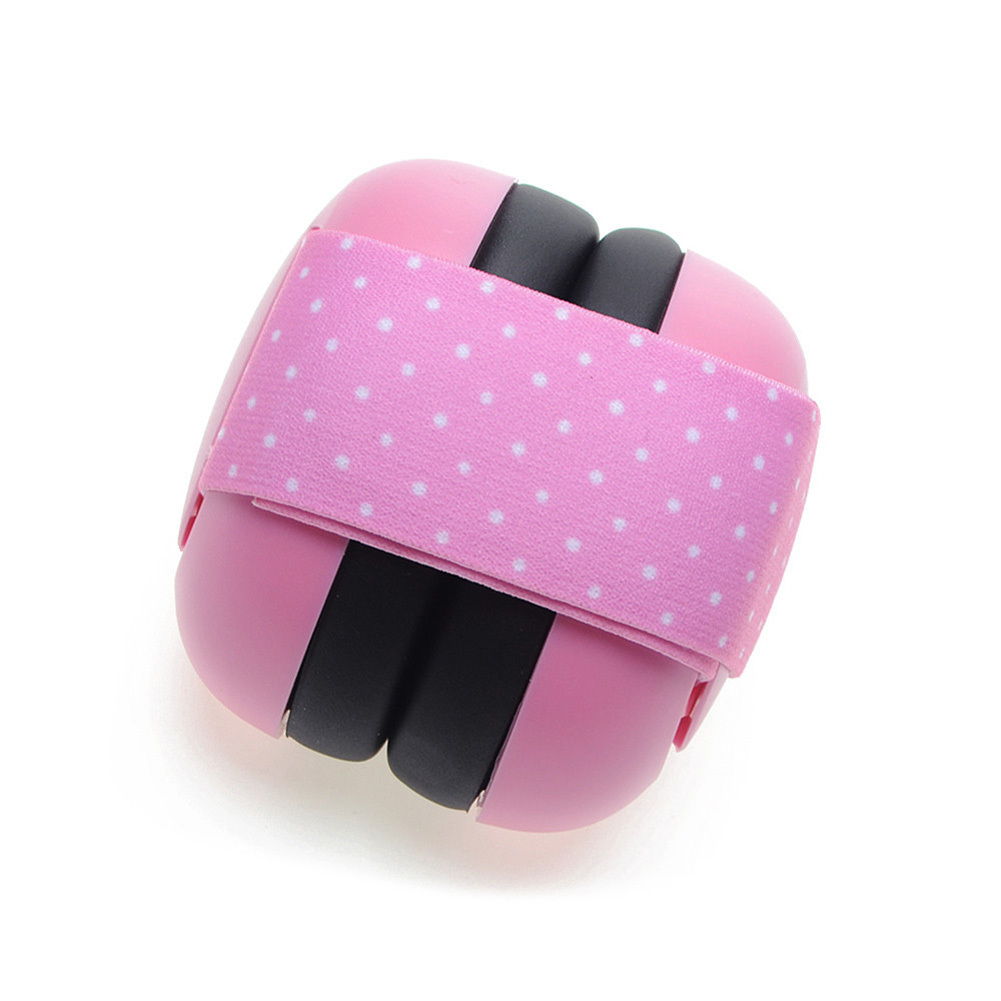 Hearing Earmuff Ear Protection Anti Noise Travel Soundproof Headphone Portable Sleeping Elastic Strap Adjustable Baby Defenders