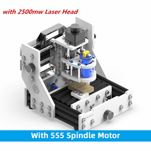 2500mw GK MILL M3 CNC Laser Engraving Machine 500mw 2D 3D Wood Router Plastic Bones Standard with Motor Wood Milling Cut Machine