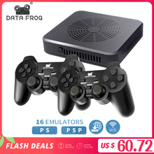 DATA FROG WIFI Video Game Console Support 4 Player Built-in 3000+games 100 3D games For PS1/PSP Retro Game Console Support HDMI
