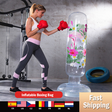 Hot Vertical Inflatable Boxing Bag PVC Thickening Crystal Boxing Pillar Tumbler