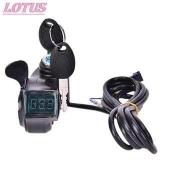 New Hot Sale Electric Bike Half Wrist Throttle Grip Handle LED Display Indicator/Lock Key Knock Half Twist Throttle