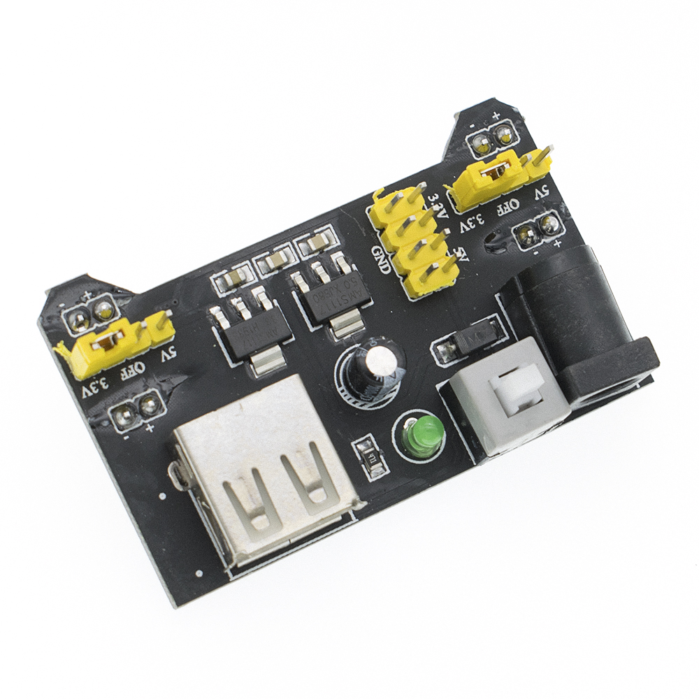 MB-102 Bread Board Dedicated Power Module Compatible 5V, 3.3V Breadboard Power Module