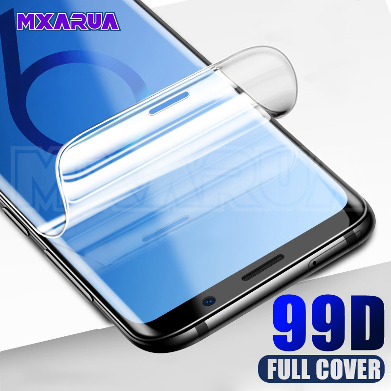 99D Hydrogel Film Screen Protector For Samsung Galaxy S10 S9 S8 Plus S10e A6 A8 2018 S7 Edge Screen Protective Protection Film