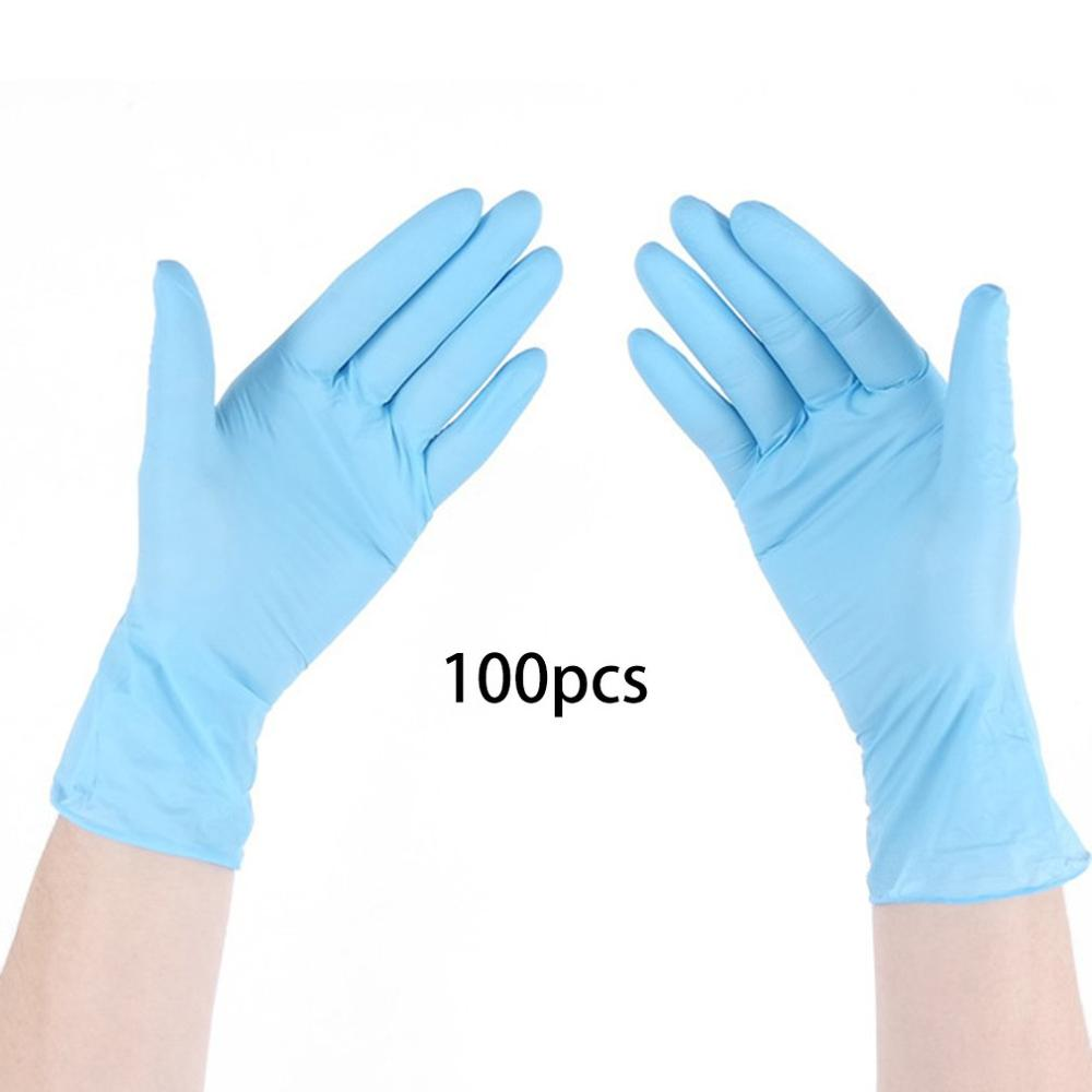 In Stock Class A Disposable Blue Nitrile Gloves Antistatic 9 Inch Inspection Protective Gloves Clean Cut-Proof Gloves 100Pcs