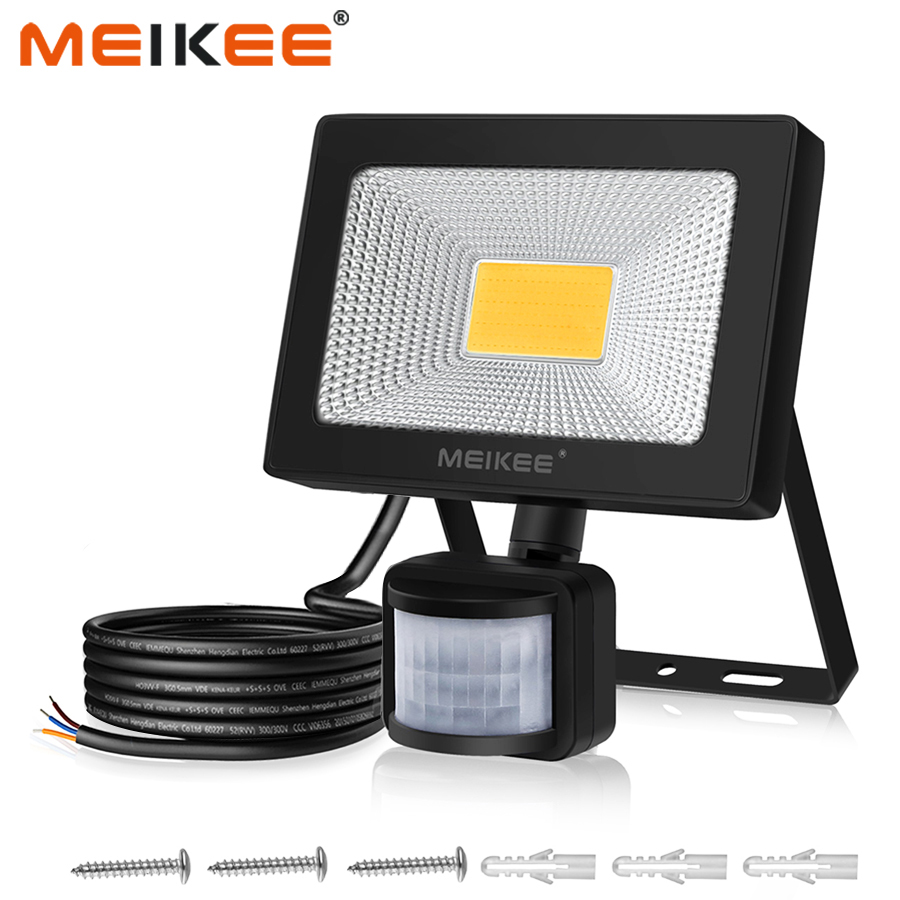 30W LED Flood Light With Motion Sensor Waterproof AC110V 220V PIR Floodlight Projector Lamp Outdoor Spotlight For Garden Street